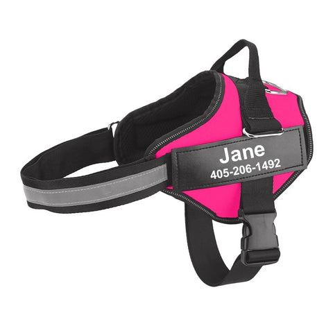 Personalized Dog Harness Reflective Adjustable Pet Harness