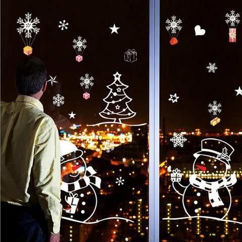 Snowman Removable Home Vinyl Window Wall Stickers