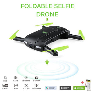 DHD D5 Selfie Drone With HD Camera, Wifi FPV - republictrend.com