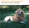 Dogs Lion Mane Wig Halloween - republictrend.com