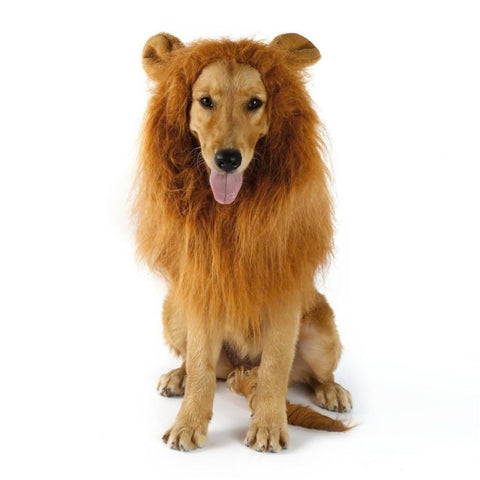 Dogs Lion Mane Wig Halloween