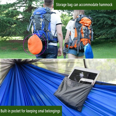 New 1-2 Person Hammock With Mosquito Net