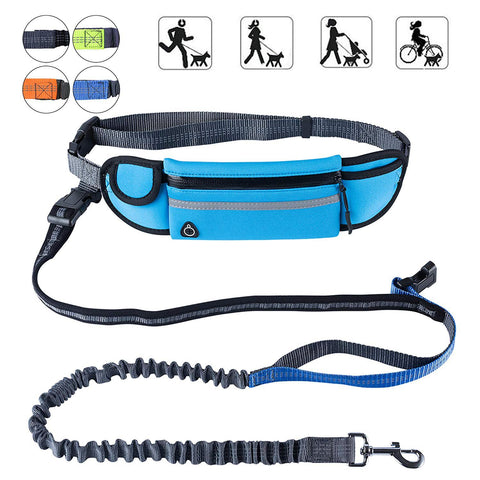 Hands-Free Doggo Leash with Adjustable Belt Shock Absorbing Bungee