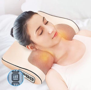 Heated Infrared Shiatsu Neck, Back Massager Pillow - republictrend.com
