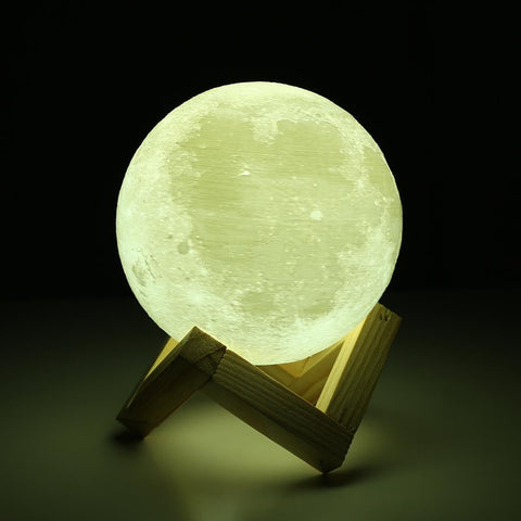 Rechargeable 3D Print Moon Lamp™