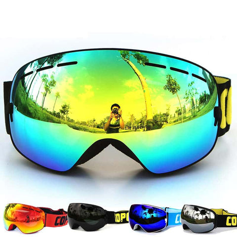 Challenger Ski Goggles | 100% UV400 Protection anti-fog snow goggles Men & Women