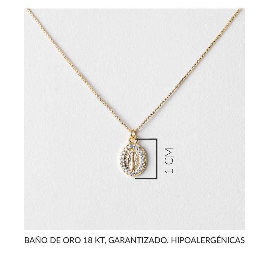 Carmel Virgin of the Rays Gold Necklace
