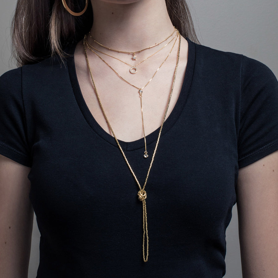 Olivia 1.20m Gold Necklace