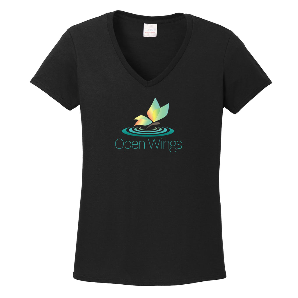 Open Wings On Demand Ladies V-Neck T-shirt