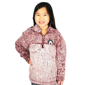Paris Youth Cozy Sherpa Quarter Zip Pullover
