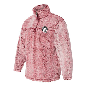 Paris Adult Cozy Sherpa Quarter Zip Pullover