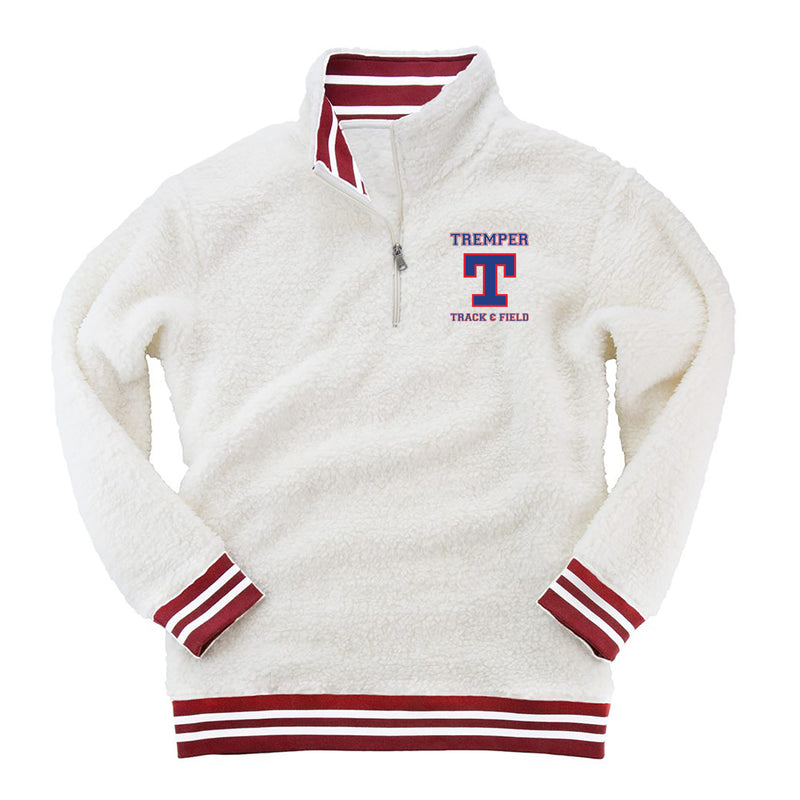 Tremper Track Adult Varsity Stripe Sherpa 1/4 Zip Pullover (2 colors)