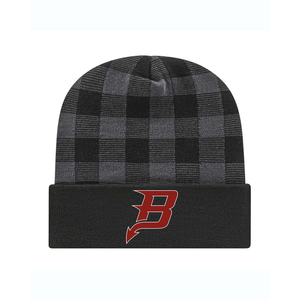Bradford Plaid Knit Cap with Cuff