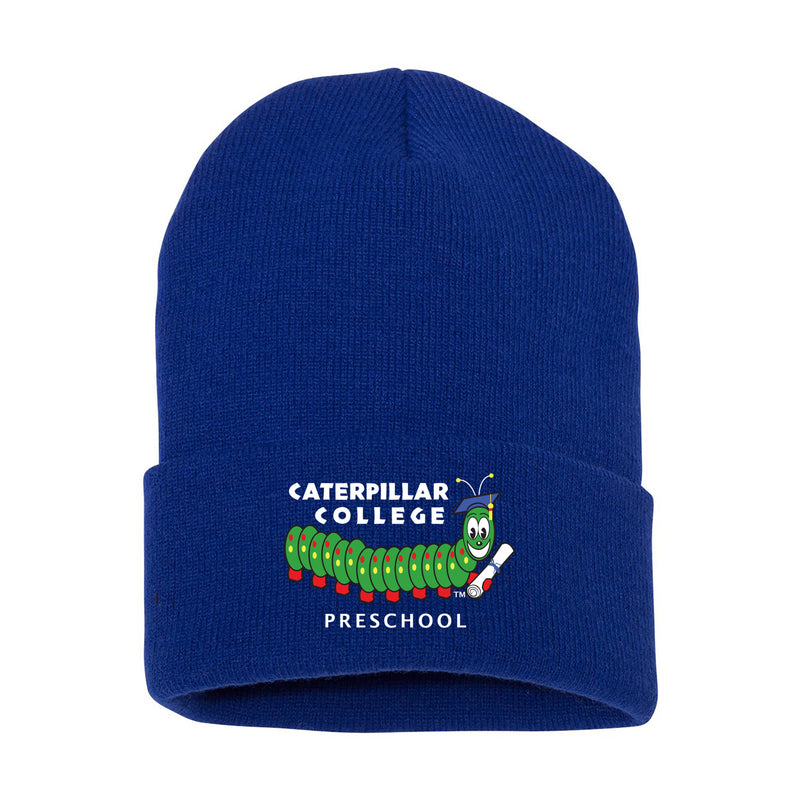 Caterpillar College Cuffed Knit Beanie (4 colors)