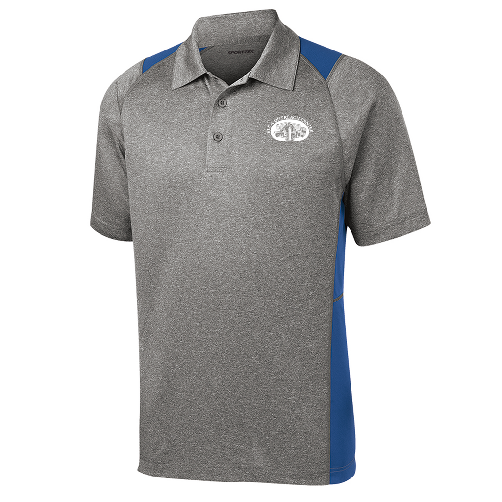 ELCA Adult Heathered Colorblock Polo