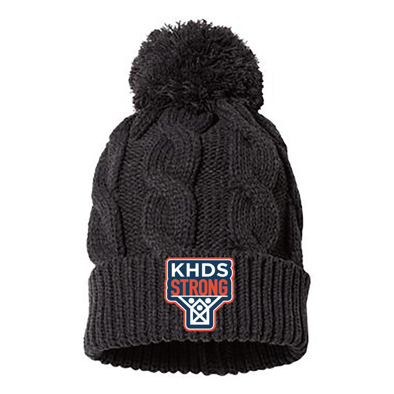 KHDS Strong Chunk Cable Pom Beanie