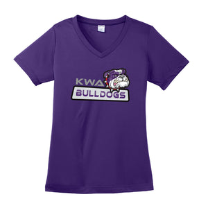 KWA Ladies Performance Bulldogs V-Neck T-Shirt (3 Colors)