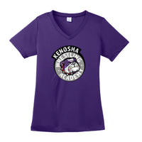 KWA Ladies Performance Medallion V-Neck T-Shirt (3 Colors)