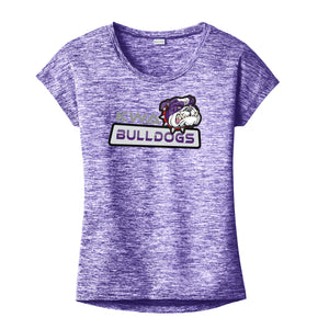 KWA Ladies Performance Electric Heather Bulldogs T-Shirt (2 Colors)