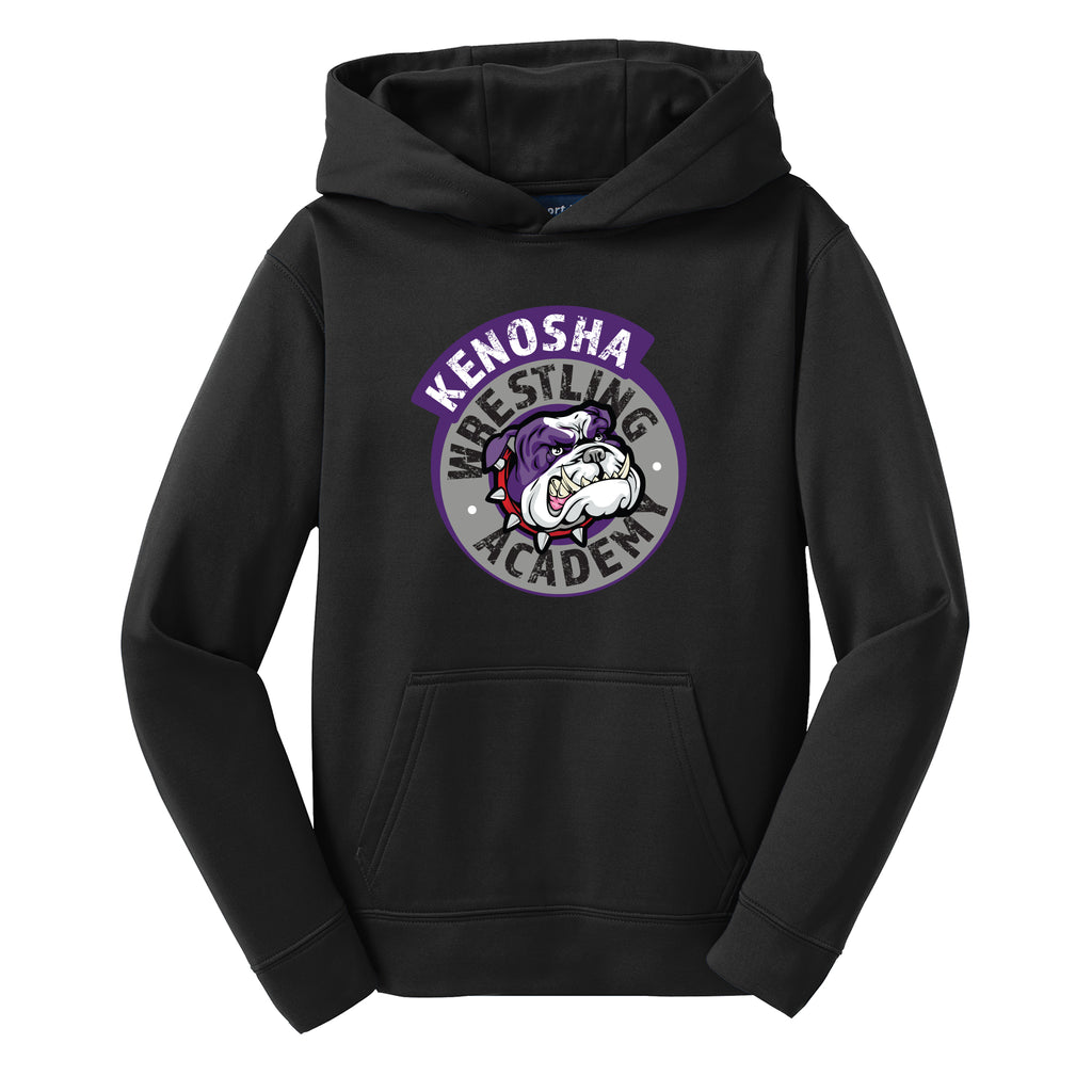 KWA Youth Sport-Wick® Fleece Medallion Hoodie (2 Colors)