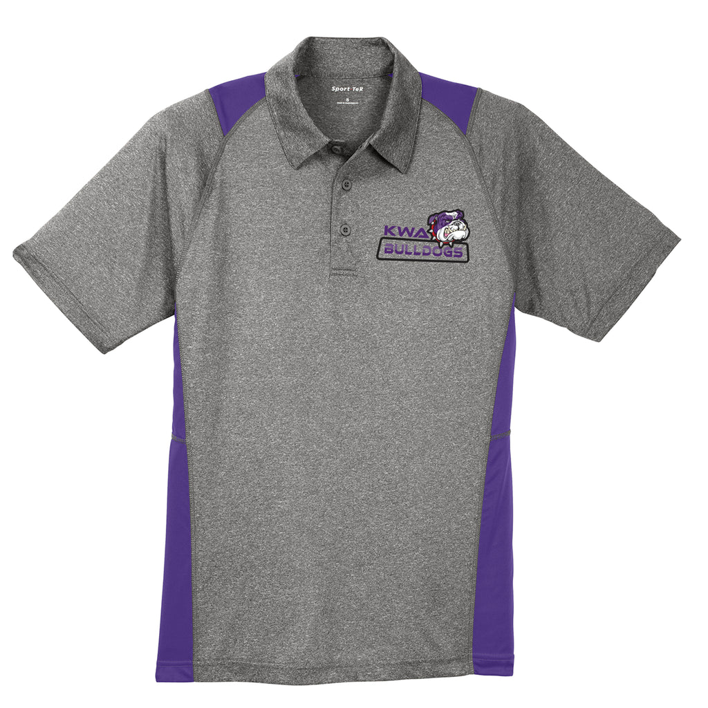 KWA Adult Bulldogs Colorblock Heathered Polo
