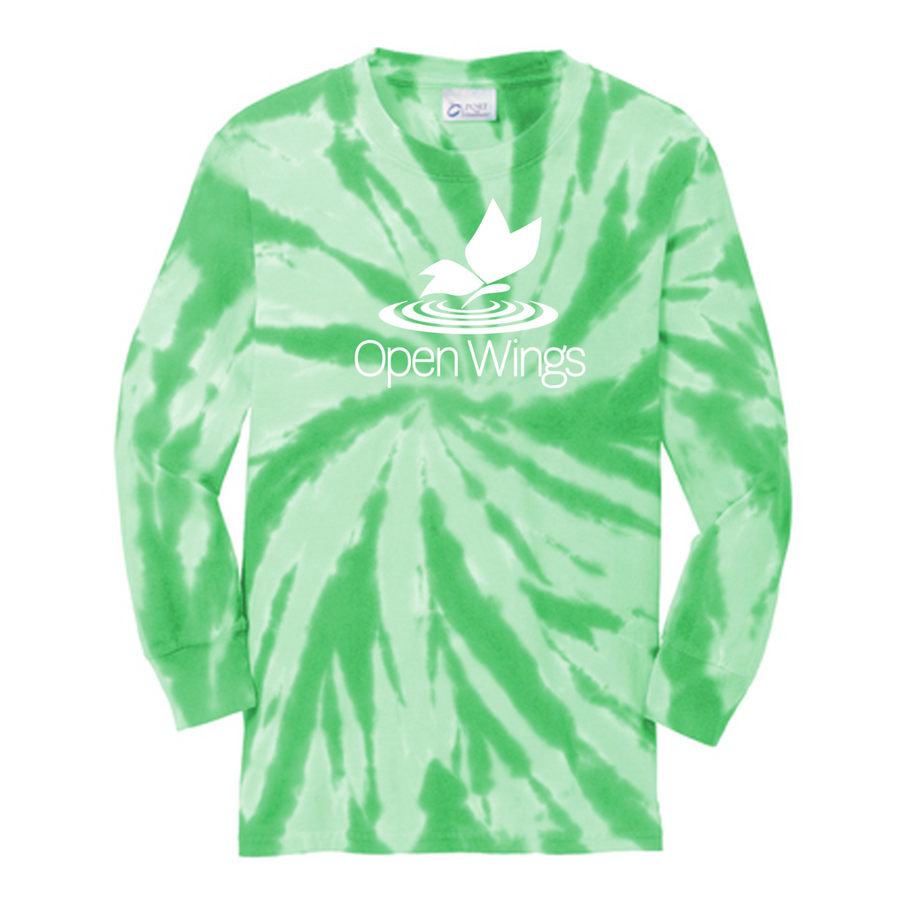 Open Wings Youth Tie-Dye Long Sleeve Tee