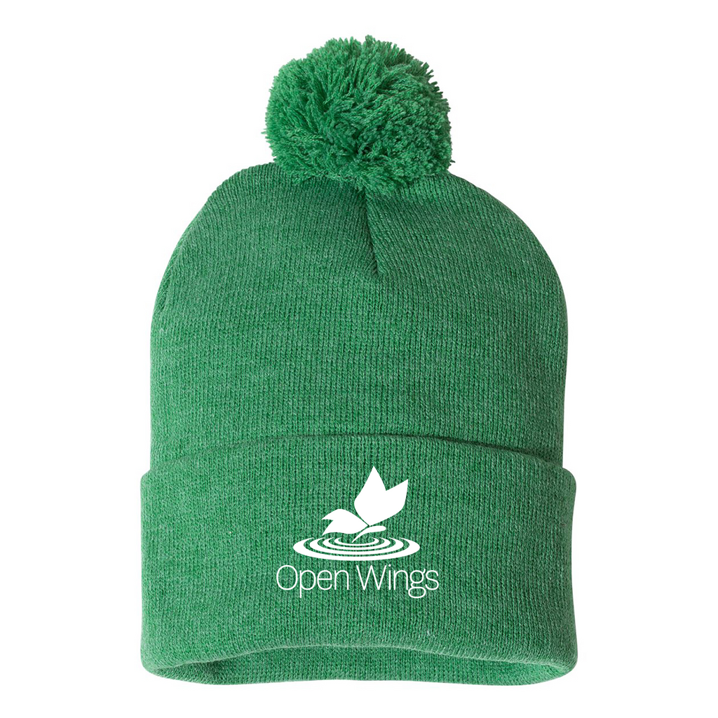 Open Wings Pom-Pom Knit Beanie