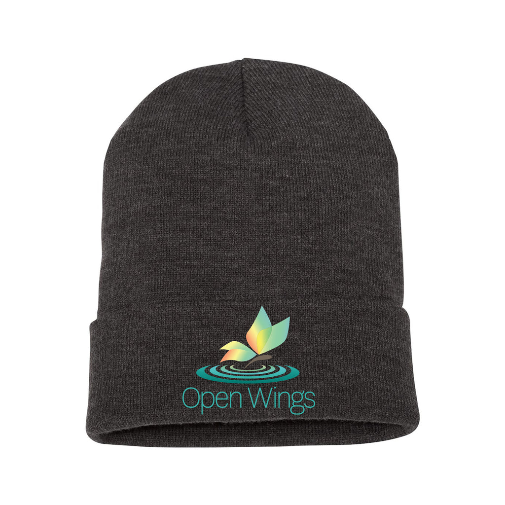 Open Wings Classic Cuffed Knit Beanie (3 colors)