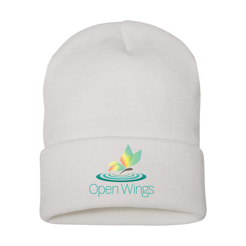 Open Wings Cuffed Knit Beanie (3 colors)