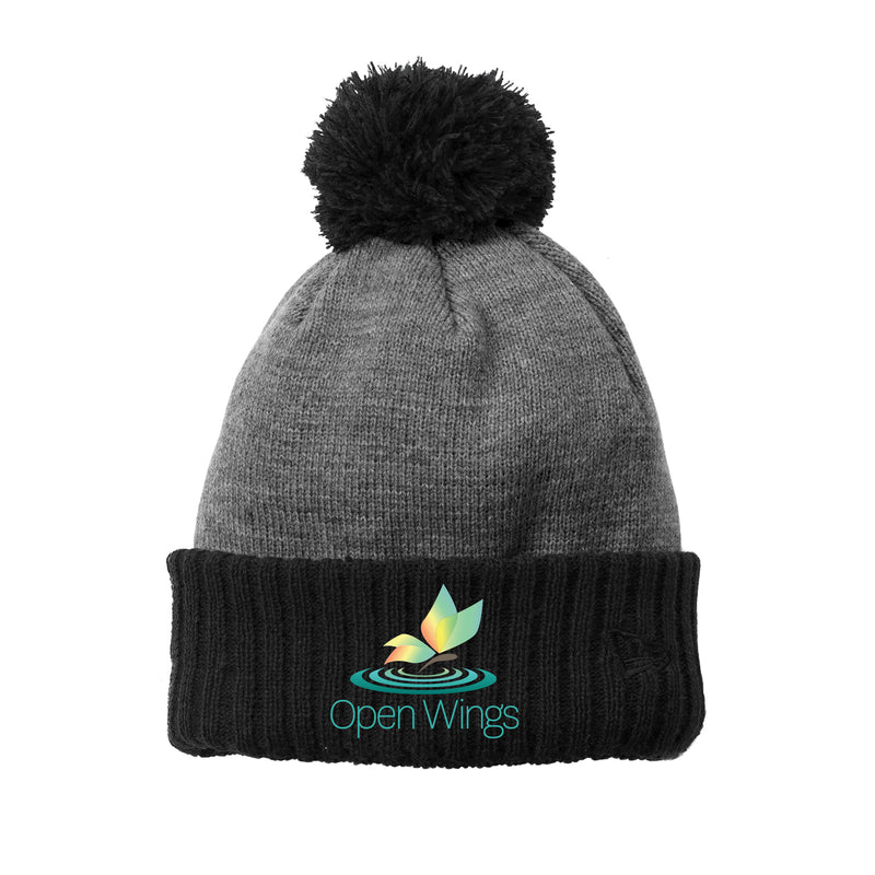 Open Wings Colorblock Cuffed Beanie