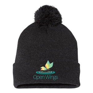 Open Wings Classic Pom-Pom Knit Beanie