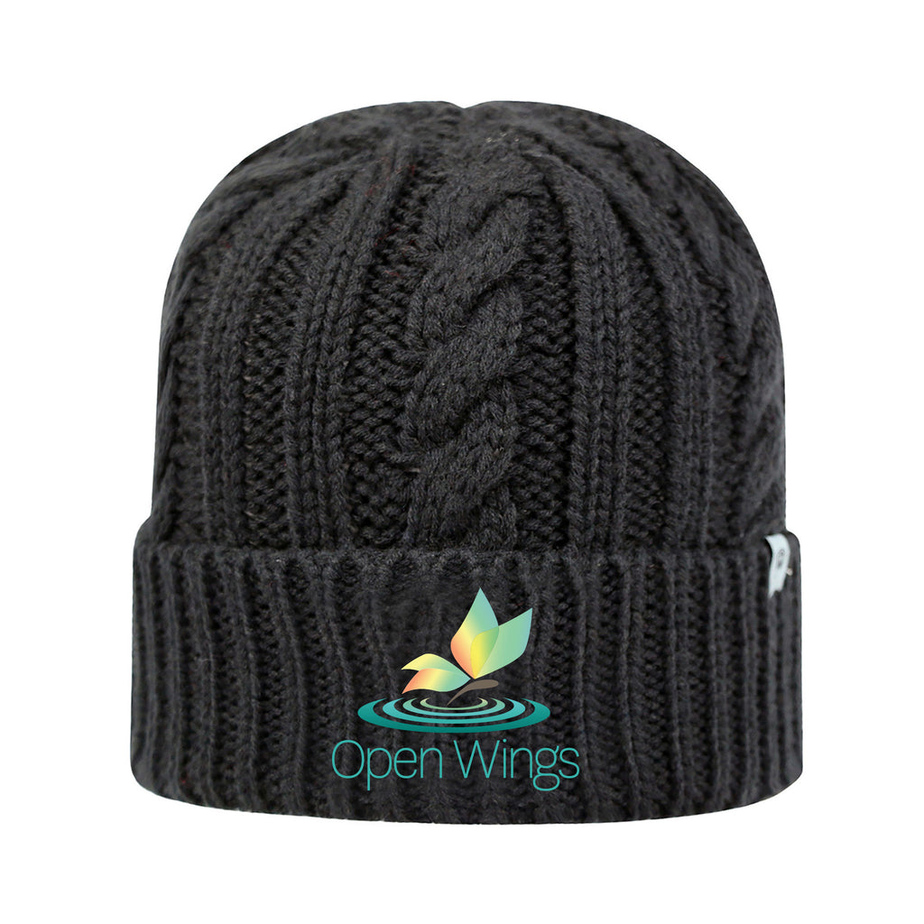 Open Wings Classic Cable Knit Cap
