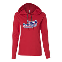 Patriots Ladies Hooded Long Sleeve T-Shirt (3 Colors)