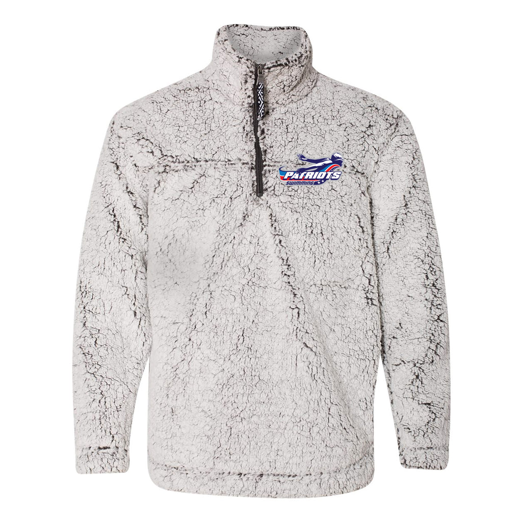Patriots Adult Cozy Sherpa Quarter Zip Pullover