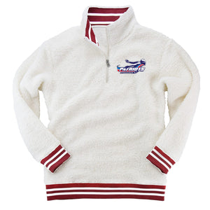 Patriots Adult Varsity Stripe Sherpa 1/4 Zip Pullover (3 colors)