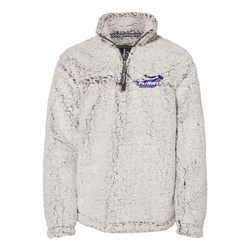 Patriots Youth Cozy Sherpa Quarter Zip Pullover