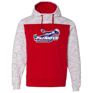 Patriots Adult Melange Fleece Colorblock Hoodie (2 colors)