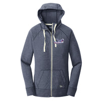 Patriots Ladies Sueded Cotton Blend Zipper Hoodie (2 colors)