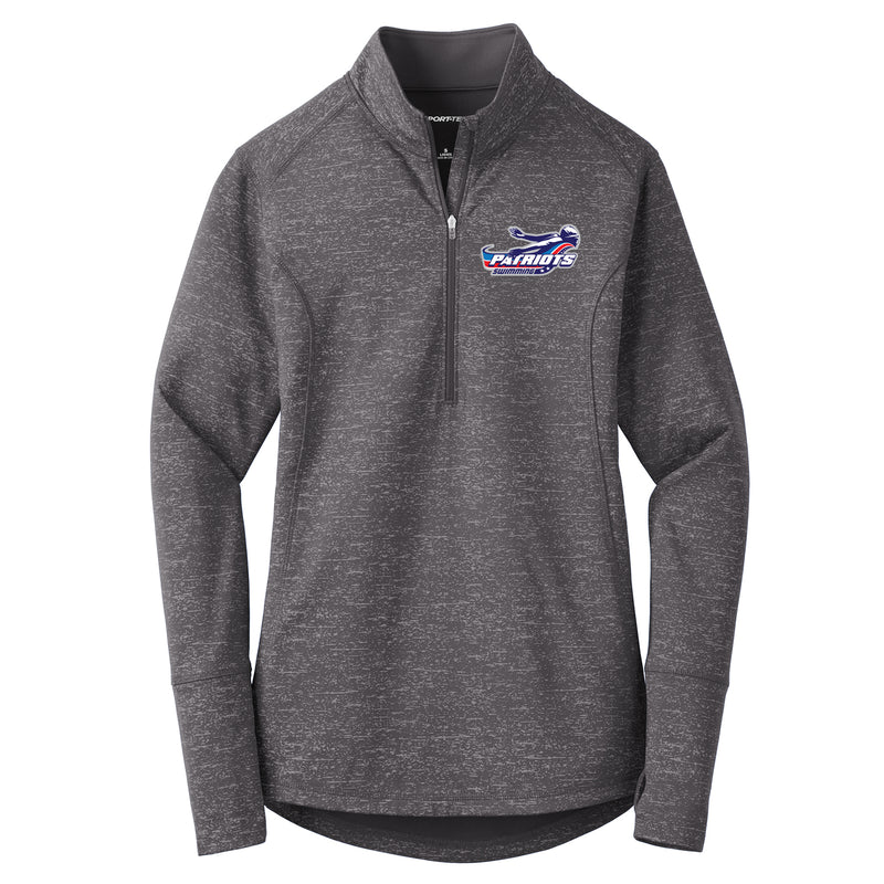 Patriots Ladies Sport-Wick Reflective Heather 1/2 Zip Pullover