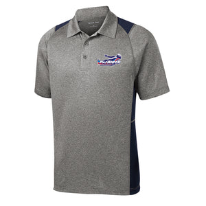 Patriots Adult Colorblock Heathered Polo