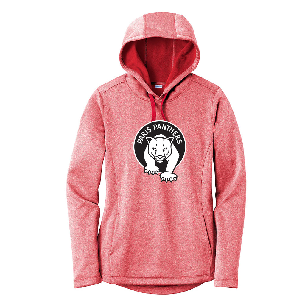 Paris Ladies Heathered Sport-Wick Fleece Hoodie