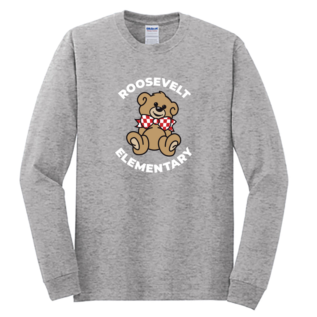 Roosevelt Adult Essential Long Sleeve T-Shirt (2 colors)