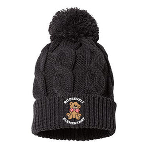 Roosevelt Chunk Cable Pom Beanie