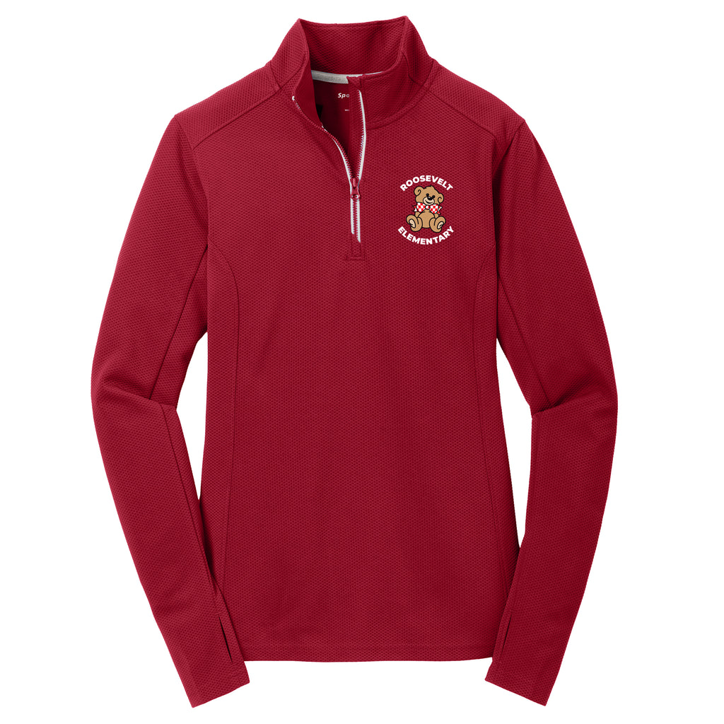 Roosevelt Ladies Textured Sport-Wick 1/4 Zip (2 colors)