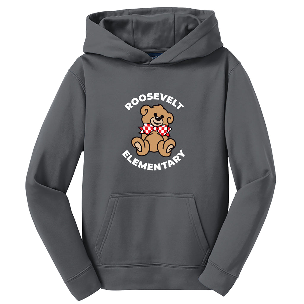 Roosevelt Youth Sport-Wick Fleece Hoodie (2 Colors)