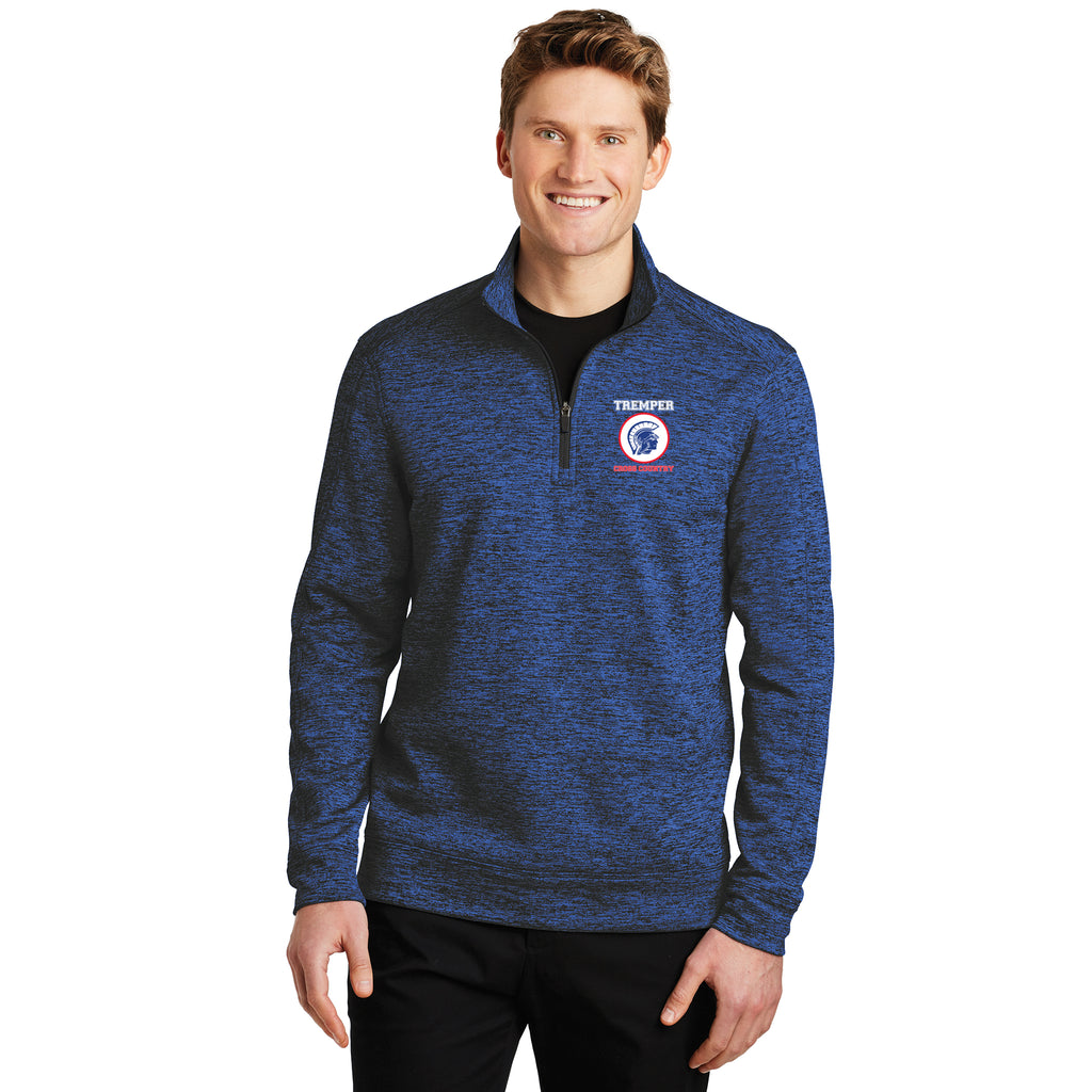 TCC On Demand Adult Electric Blue Heather 1/4 Zip Performance Fleece Pullover
