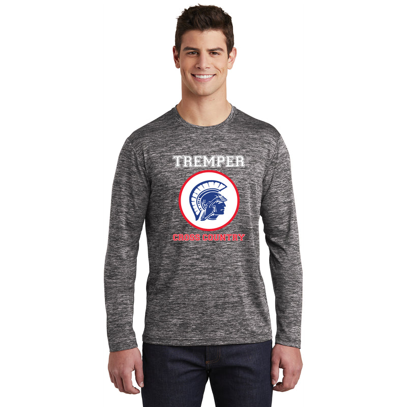 TCC On Demand Black Heather Performance Long Sleeve T-shirt
