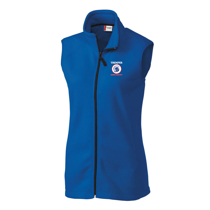 TCC On Demand Ladies' Royal Full Zip Microfleece Vest