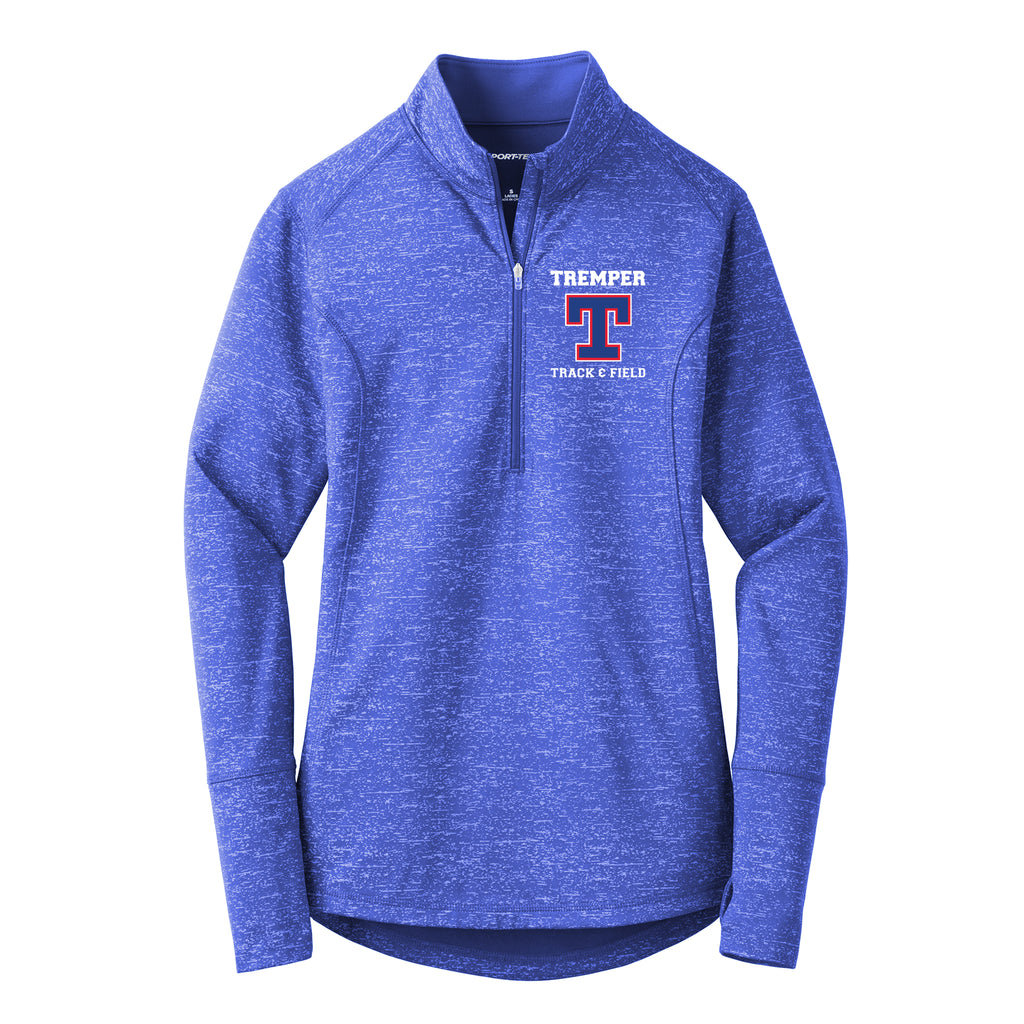 Tremper Track Ladies Sport-Wick Reflective Heather 1/2 Zip Pullover
