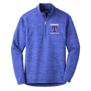 Tremper Track Adult Sport-Wick Reflective Heather 1/2 Zip Pullover